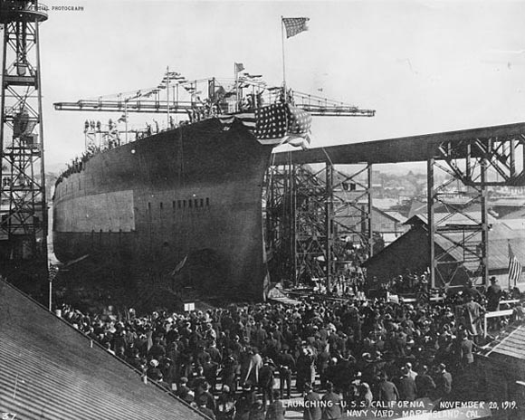 Launch ceremony of USS Tennessee