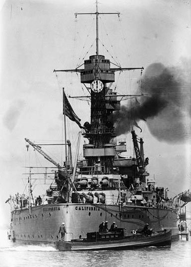 Stern view of USS California