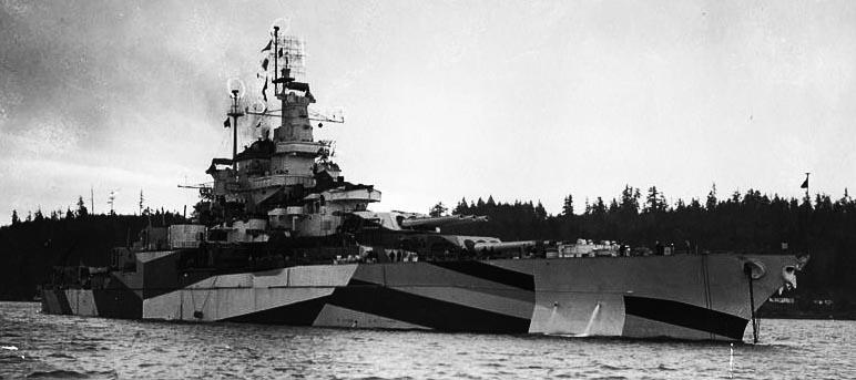 USS Califoria, January 1944
