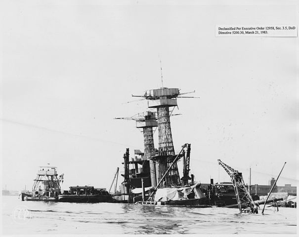Californian salvage in January 1942