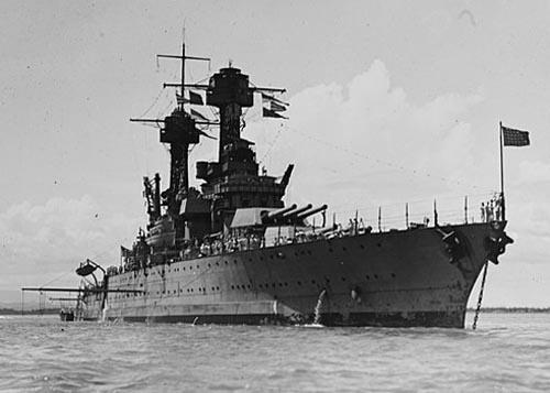 USS Tennessee off Cuba in 1921