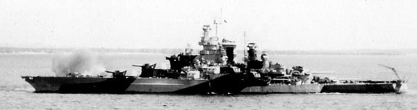 USS Tennessee bombarding Guam in 1944