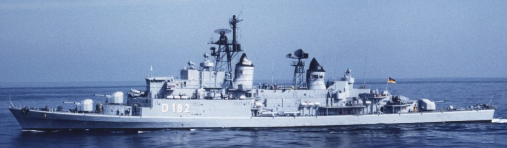 Schleswig-Holstein at sea in the 1980s, side view