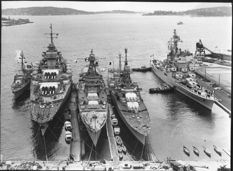 Jean Bart and the cruisers Suffren and Montcalm in the 1960s