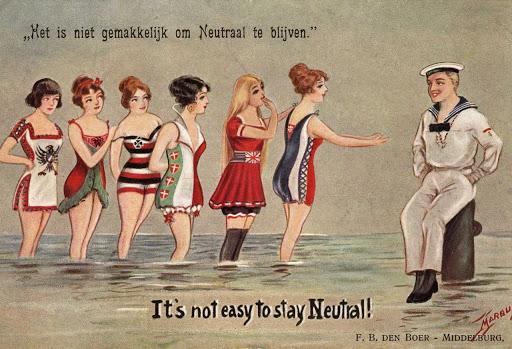 not-easy-to-stay-neutral-dutch-ww1-postcard