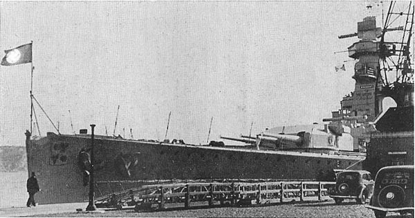 The prow of admiral Graf Spee before the war