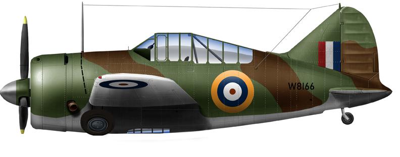 Buffalo Mark I (B-339E) of th =e 4th PRY in Mingaladon, December 1941