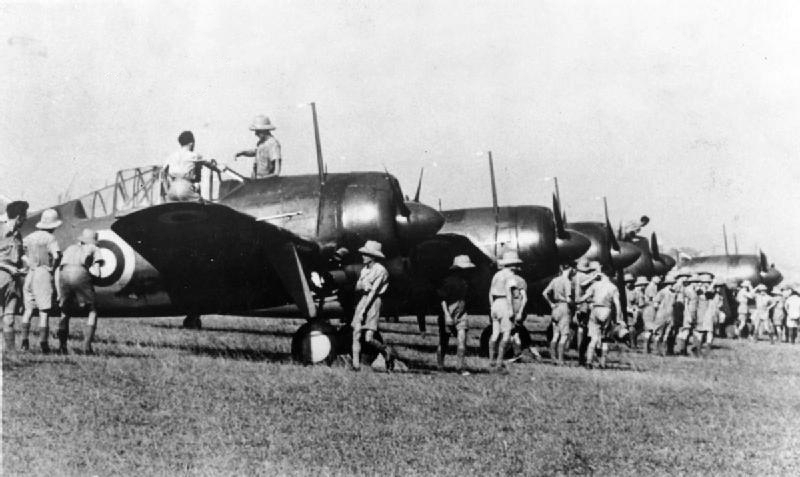 Brewster Buffalos MkI of the RAAF in Singapore, October 1941