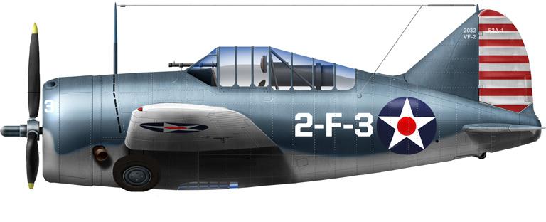 Brewster F2A-1, VF-2