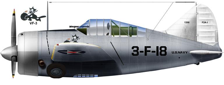 Brewster F2A-1 of VF3, 1940