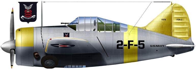 Brewster F2A-2 of VF2, 1942