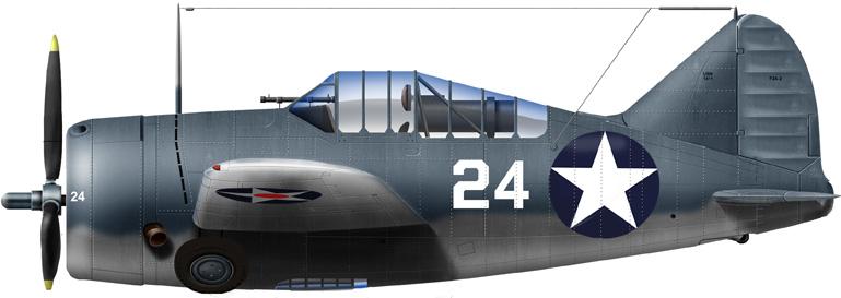 Brewster F2A-2, NAS Miami Flight School, July 1942
