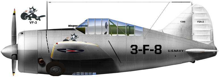 Brewster F2A-2, VF3