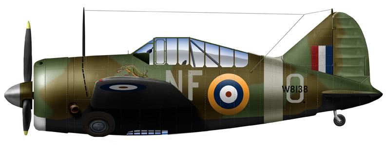 Buffalo Mark I (Brewster B-339E) of the RNZAF in Singapore, 1941