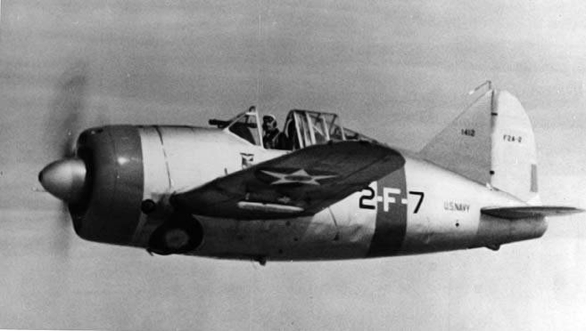 F2A-2 of the VF-2 in flight