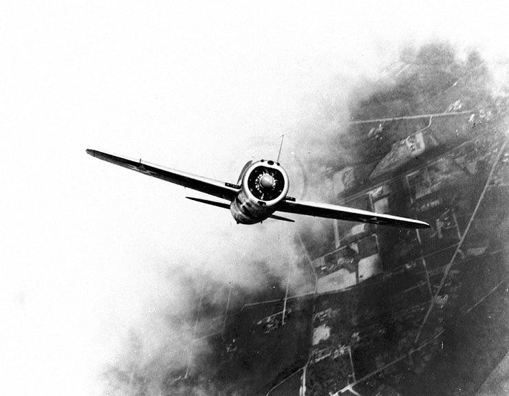 XF2A-1 in trials, 1938