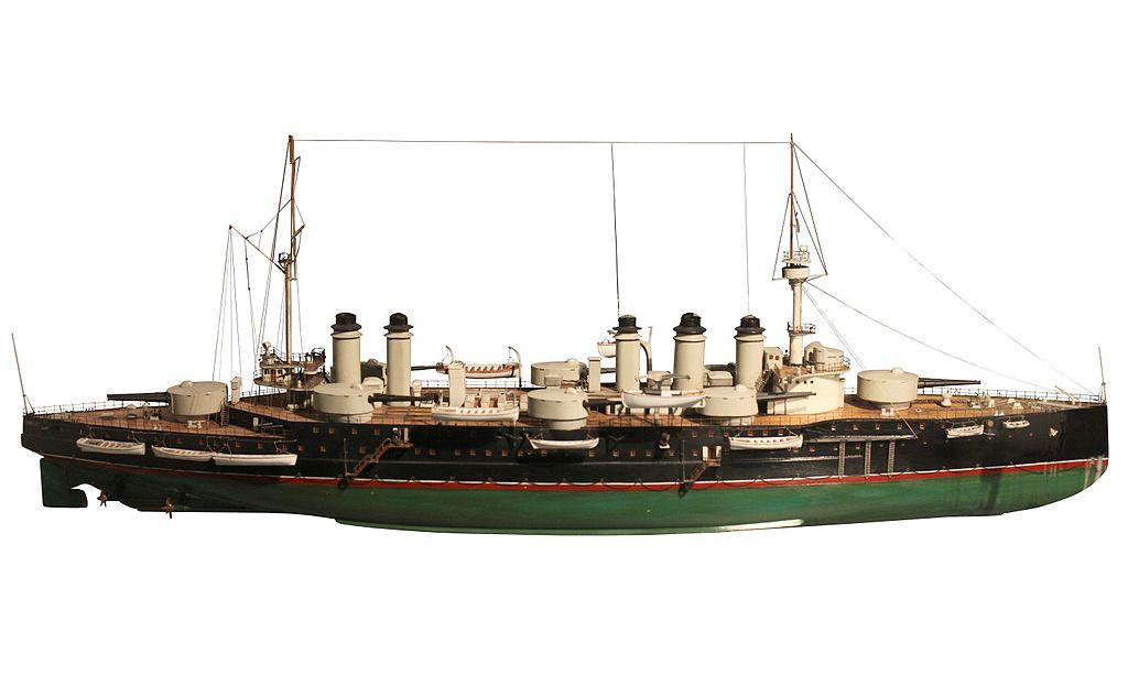 Model of Danton at the Paris maritime museum