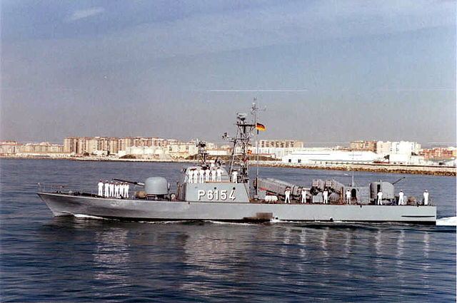 Elster (P6154), a fast attack craft of the Tiger-class