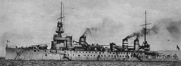 The cruiser Leon Gambetta, unknown origin