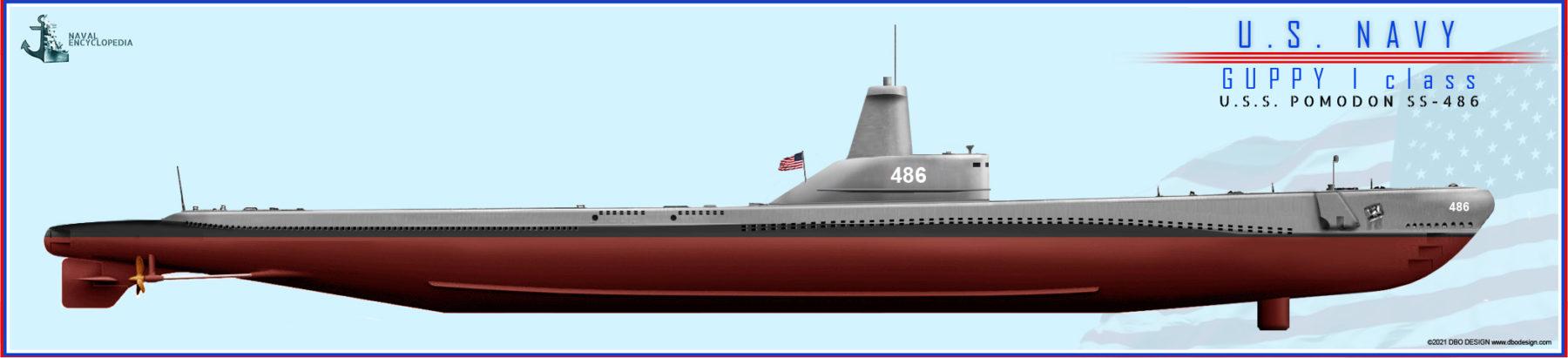 GUPPY I USS Pomodon
