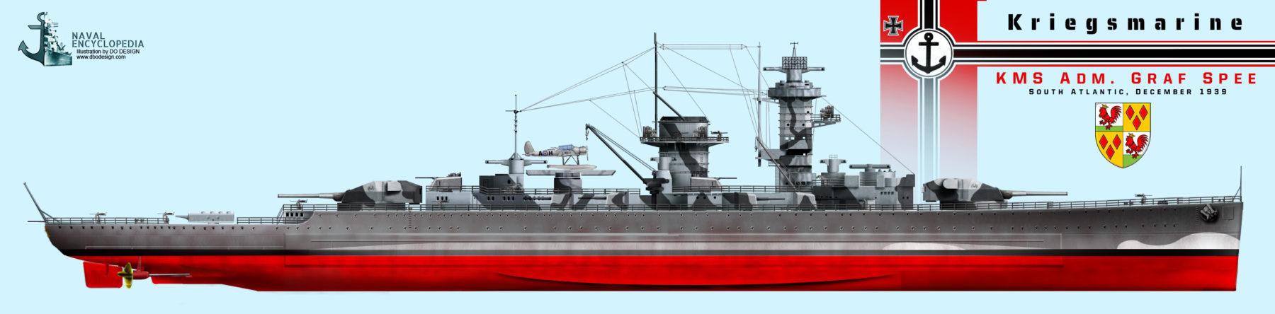 KMS Admiral Graf Spee, South Atlantic December 1939