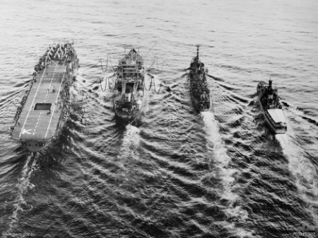 HMAS Sydney and other ships of her battle group in Korea, 1950