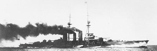 IJN Haruna in sea trials