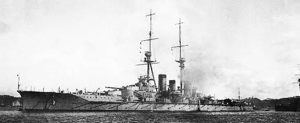 IJN Hiei in Yokosua, 1914