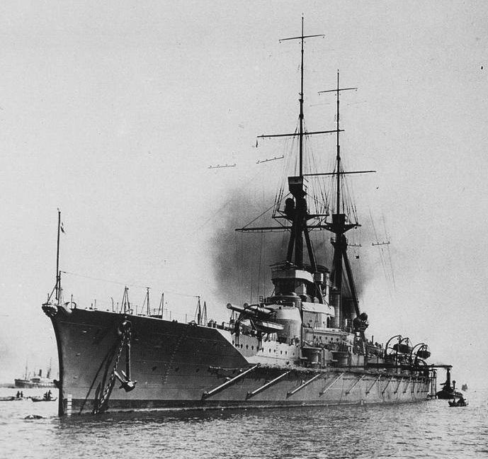 IJN Haruna in Kobe, 1915