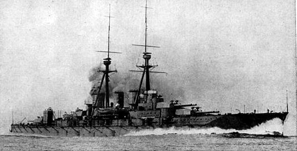 IJN Kongo in sea trials, 1914