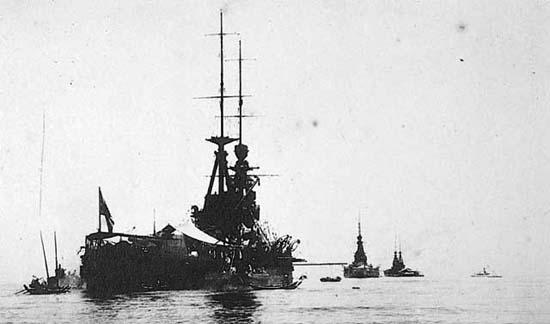 IJN Kongo during Prince Hiro-Hito visit to Taiwan in 1923
