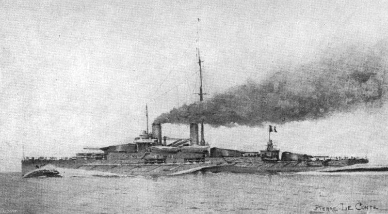 Artist's impression at the time of the Normandie class