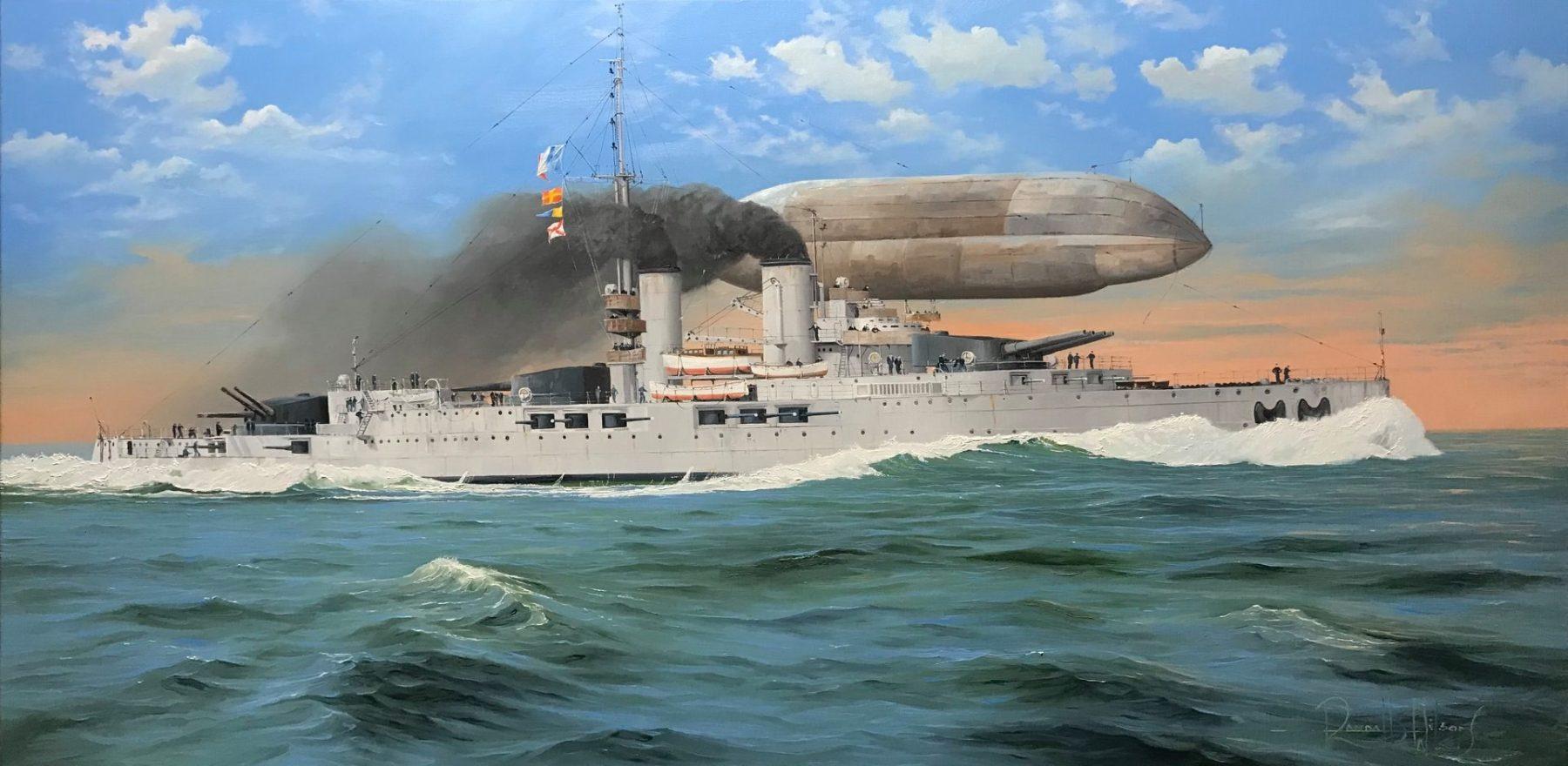 Splendid painting of the Normandie by Randall Wilson