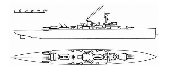 Sketch of Panzerschiff A