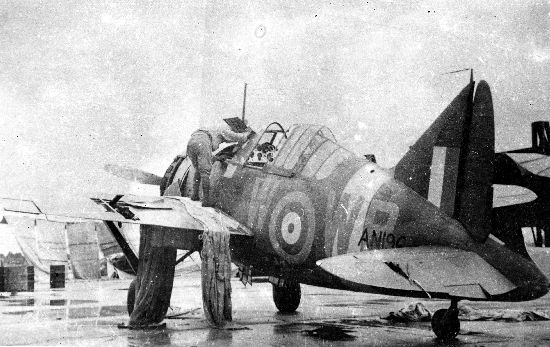 A Buffalo Mark I being refuelled during the battle of Singapore