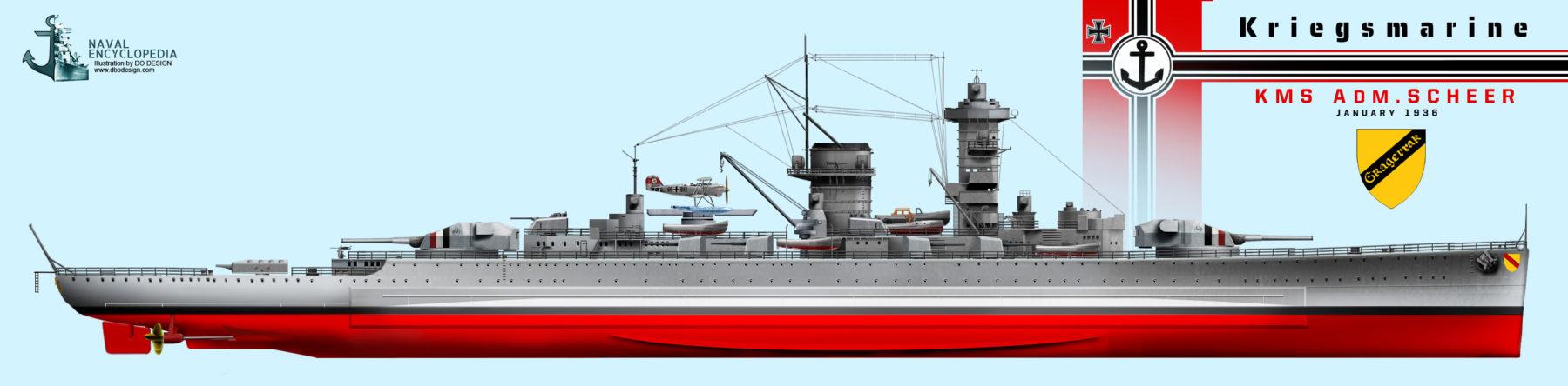 KMS Admiral Scheer, 1936