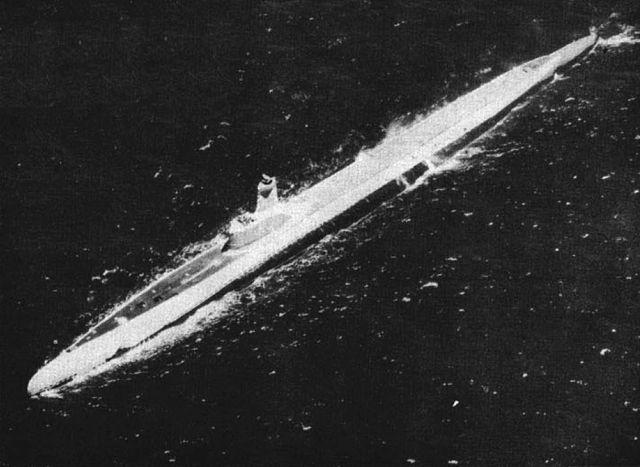 USS Pomodon (SS-486), a GUPPY-I circa 1948