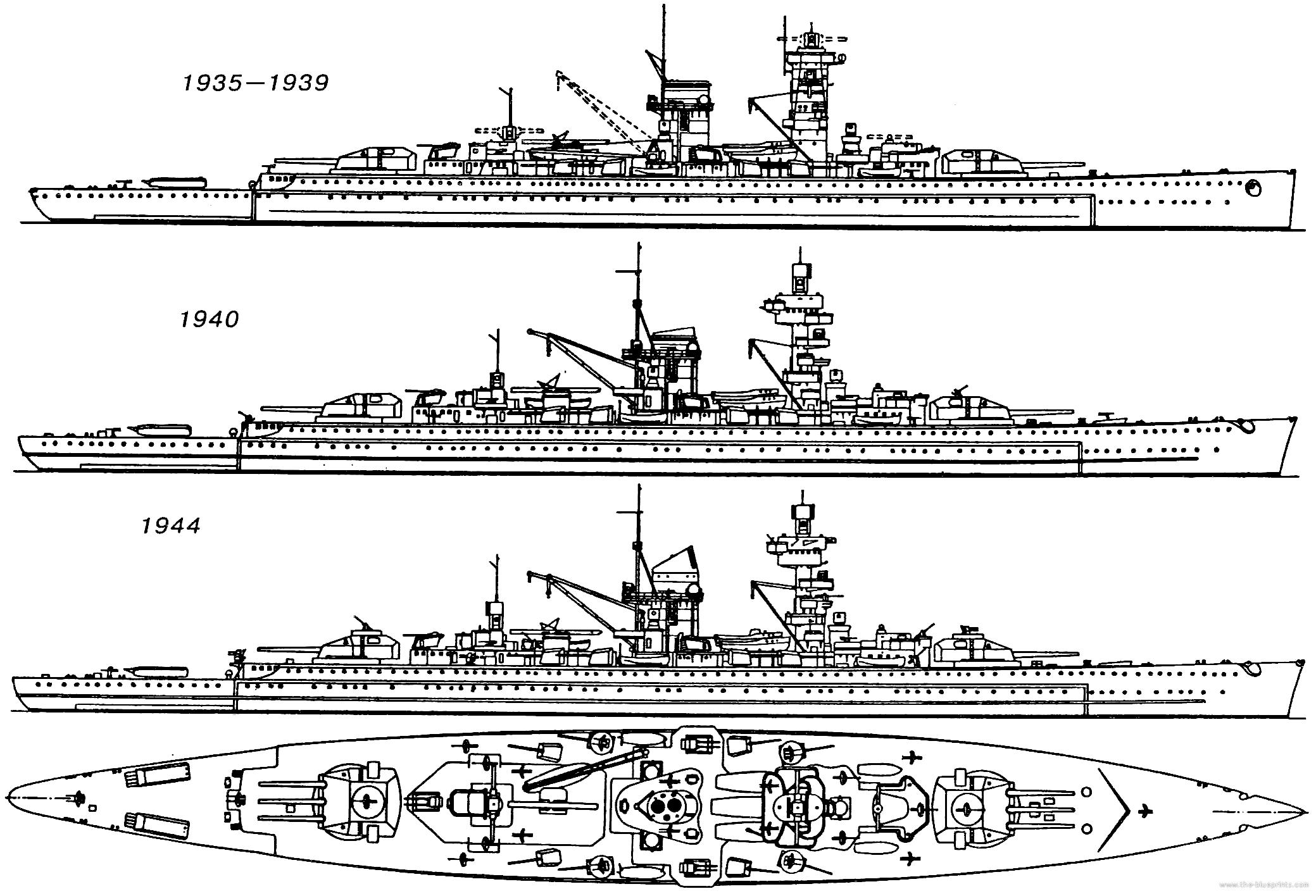 Evolution of the Admiral Scheer