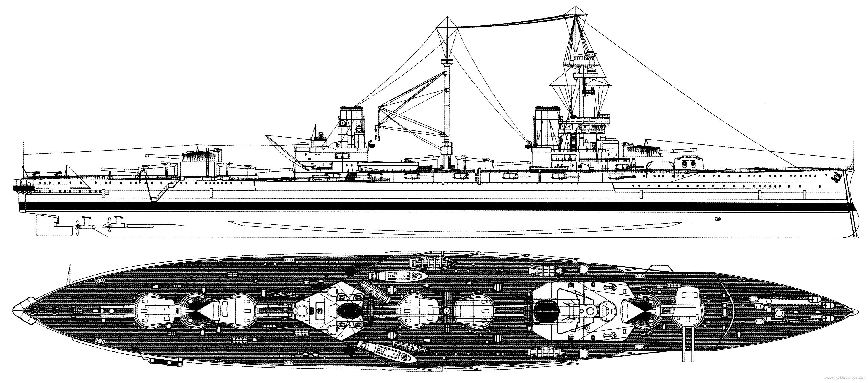 HMS Agincourt in 1918