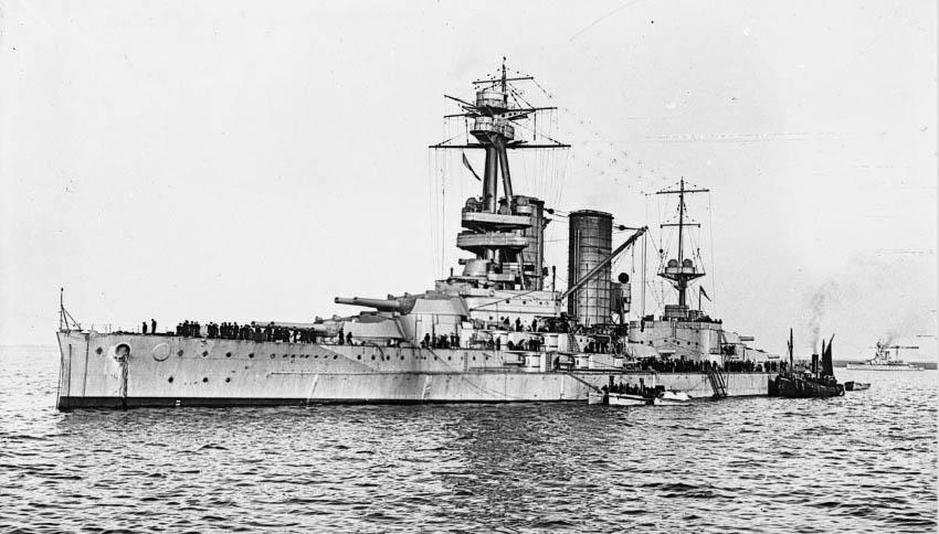 HMS Canada in 1916 or 1917