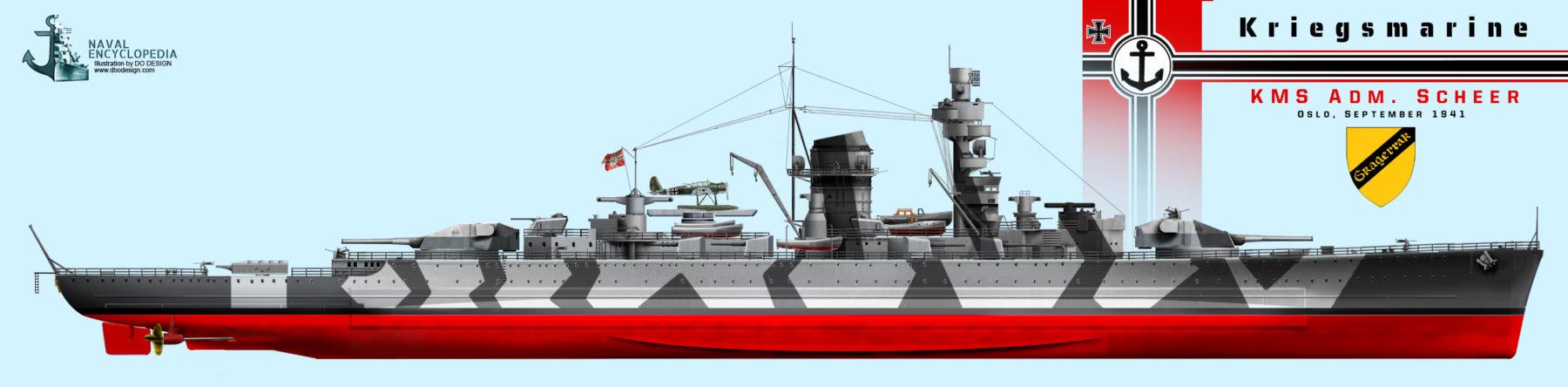KMS Admiral Scheer, Oslo September 1941