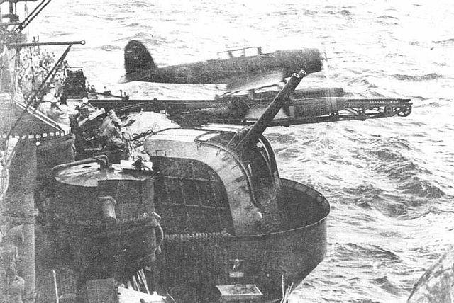 Aichi E13A capulted from IJN Ashigara