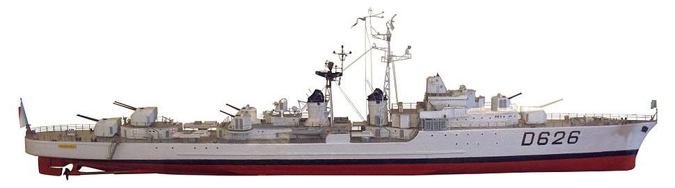 A shipyard model of D626 Chevalier Paul