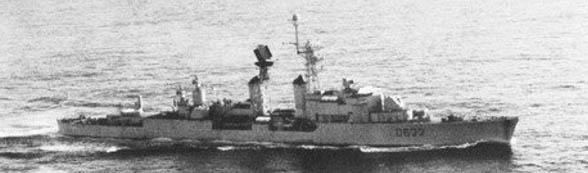 Kersaint underway in 1963