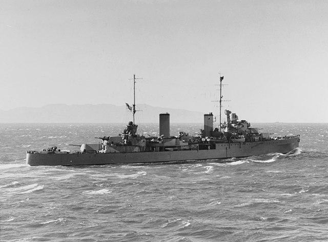 HMAS Hobart leaves Wellington, New Zealand, 22 July 1942