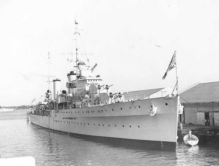 HMS Apollo at Miami, 1938