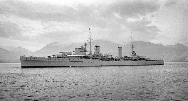 HMS Apollo at Vancouver, 1936