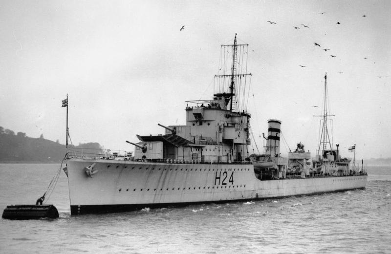 HMS Hasty, of the same type of the Havock, which spotted Pola in the dark