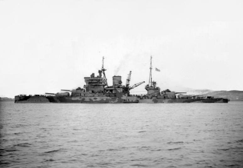HMS Queen Elisabth, circa 1943