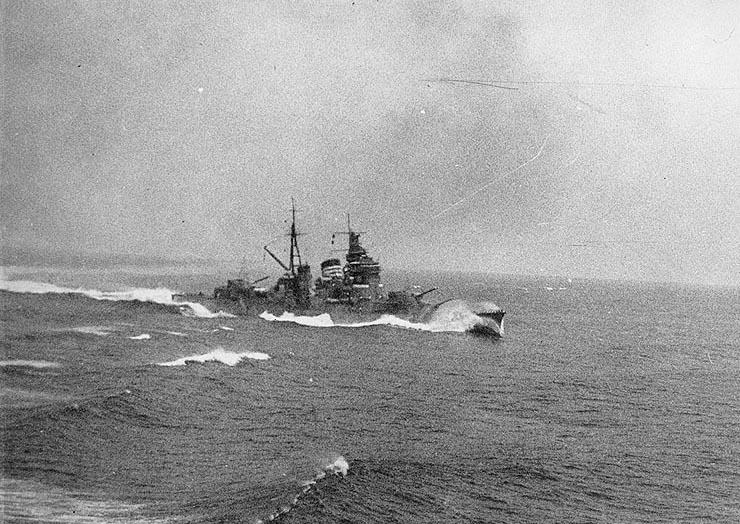 IJN Haguro underway in 1936